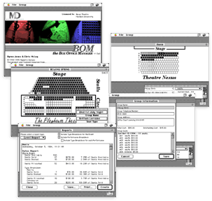 The Box Office Manager - software user interface design; 1990-95